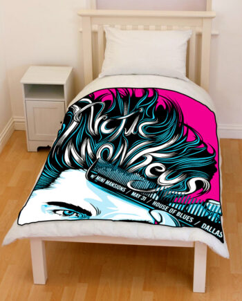 artic monkeys bedding throw fleece blanket