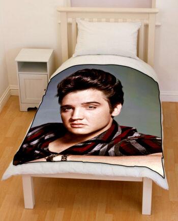 elvis presley bedding throw fleece blanket