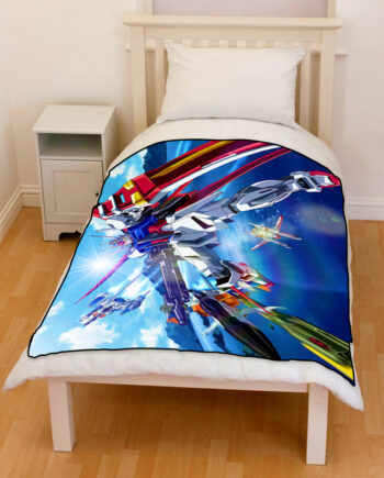 gundam seed destiny bedding throw fleece blanket