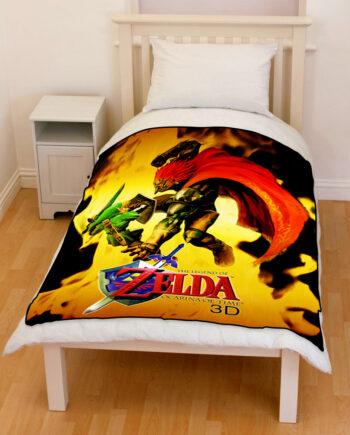 the legend of zelda ocarina of time bedding throw fleece blanket