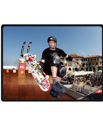 tony hawk throw fleece blanket