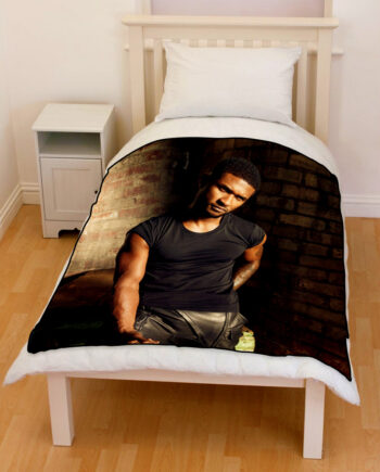 usher bedding throw fleece blanket