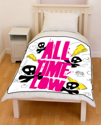 All Time Low arts throw fleece blanket