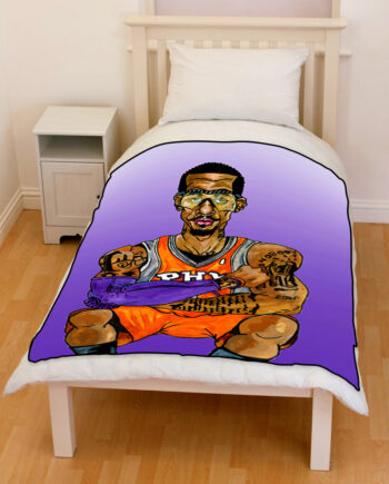 Ama Stoudemire bedding throw fleece blanket