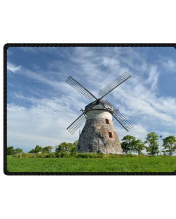 farm windmill blue sky bedding throw fleece blanket