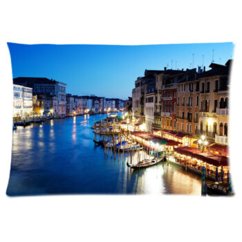grand canal in venice italy sunset pillow case