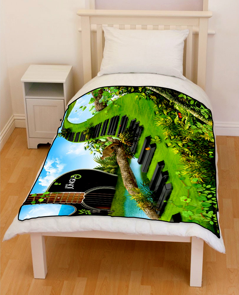 jungle guitar Piano Abstract bedding throw fleece blanket