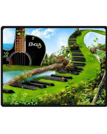 jungle guitar Piano Abstract bedding throw fleece blanket