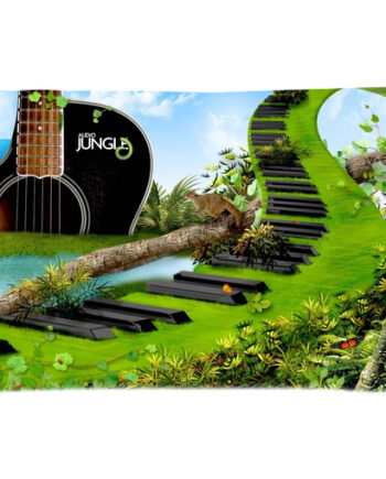 jungle guitar piano pillow case