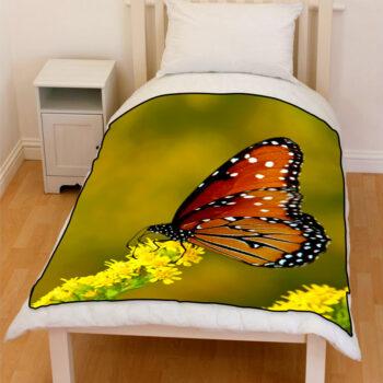 monarch butterfly bedding throw fleece blanket