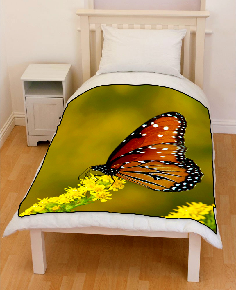 monarch butterfly bedding throw fleece blanket