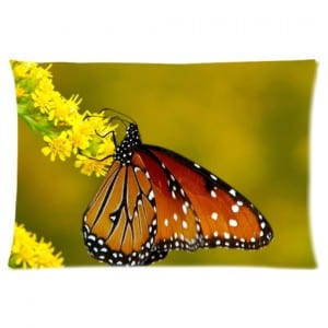 monarch butterfly pillow case
