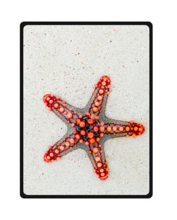 starfish on sand bedding throw fleece blanket