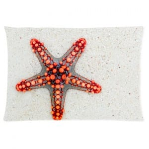 starfish on sand pillow case