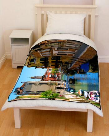venice rio di san vio bedding throw fleece blanket