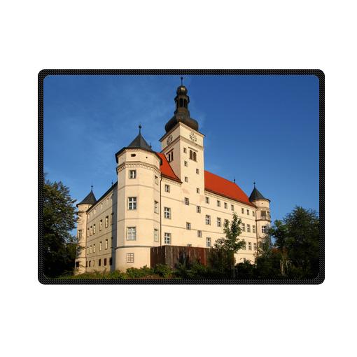 Alkoven Schloss Hartheim Castle Germany bedding throw fleece blanket