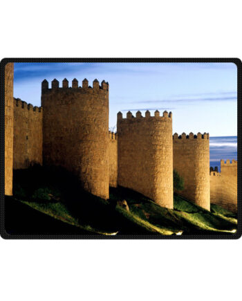 Avila castle spain bedding throw fleece blanket