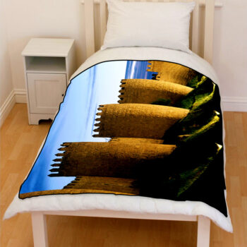Avila castle spain bedding throw fleece blanket
