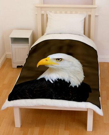 Bald Eagle bedding throw fleece blanket