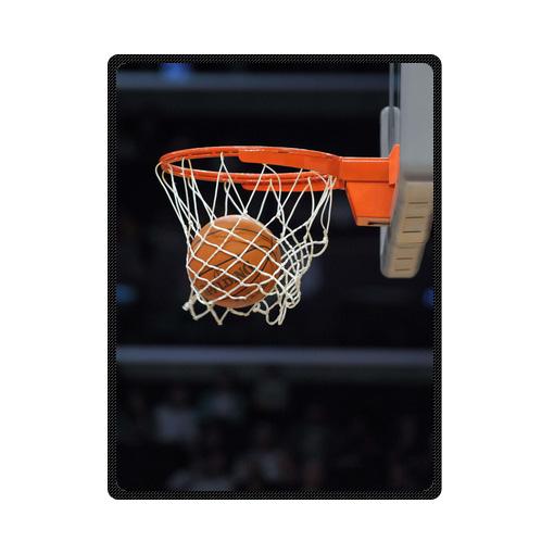 Basketball Hoop And Ball bedding throw fleece blanket