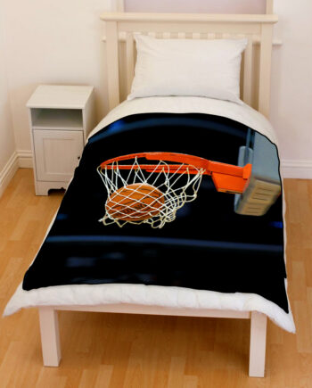 Basketball Hoop And Ball bedding throw fleece blanket