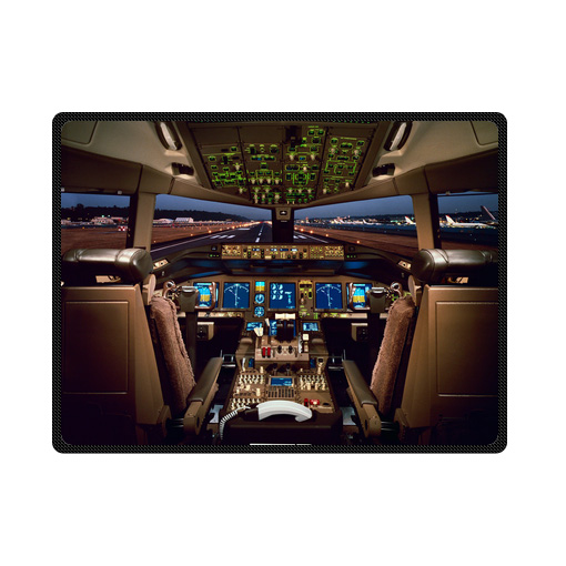 Boeing 777 Airplane Cockpit bedding throw fleece blanket