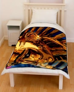Egypt Pharaoh sculpture bedding throw fleece blanket