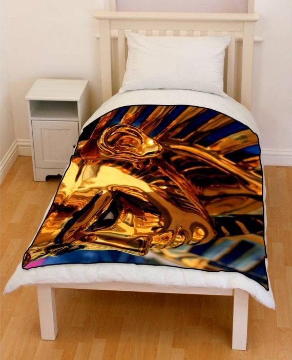 Egypt Pharaoh sculpture bedding throw fleece blanket