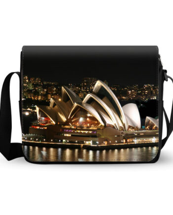 Sydney opera house night messenger bag