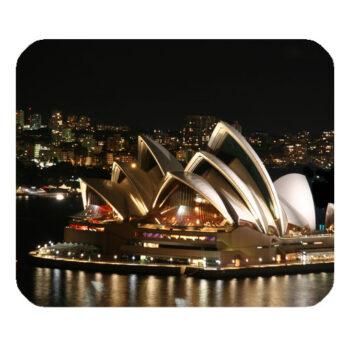 Sydney opera house night white lighting mousepad