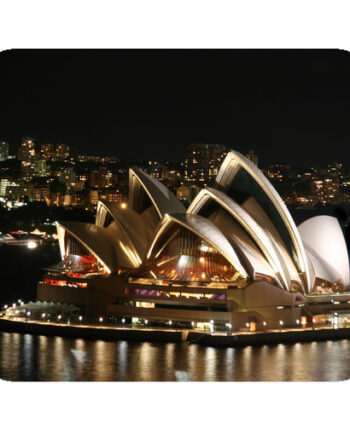 Sydney opera house night white lighting mousepad