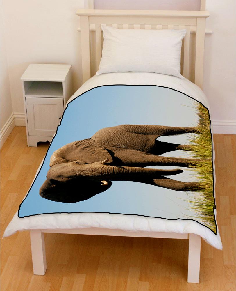 african elephant bedding throw fleece blanket