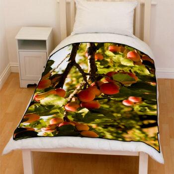 apricot orchard trees bedding throw fleece blanket