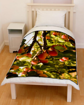 apricot orchard trees bedding throw fleece blanket