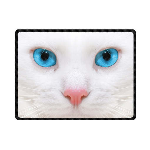 cats with blue eyes bedding throw fleece blanket