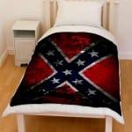 confederate flag bedding throw fleece blanket