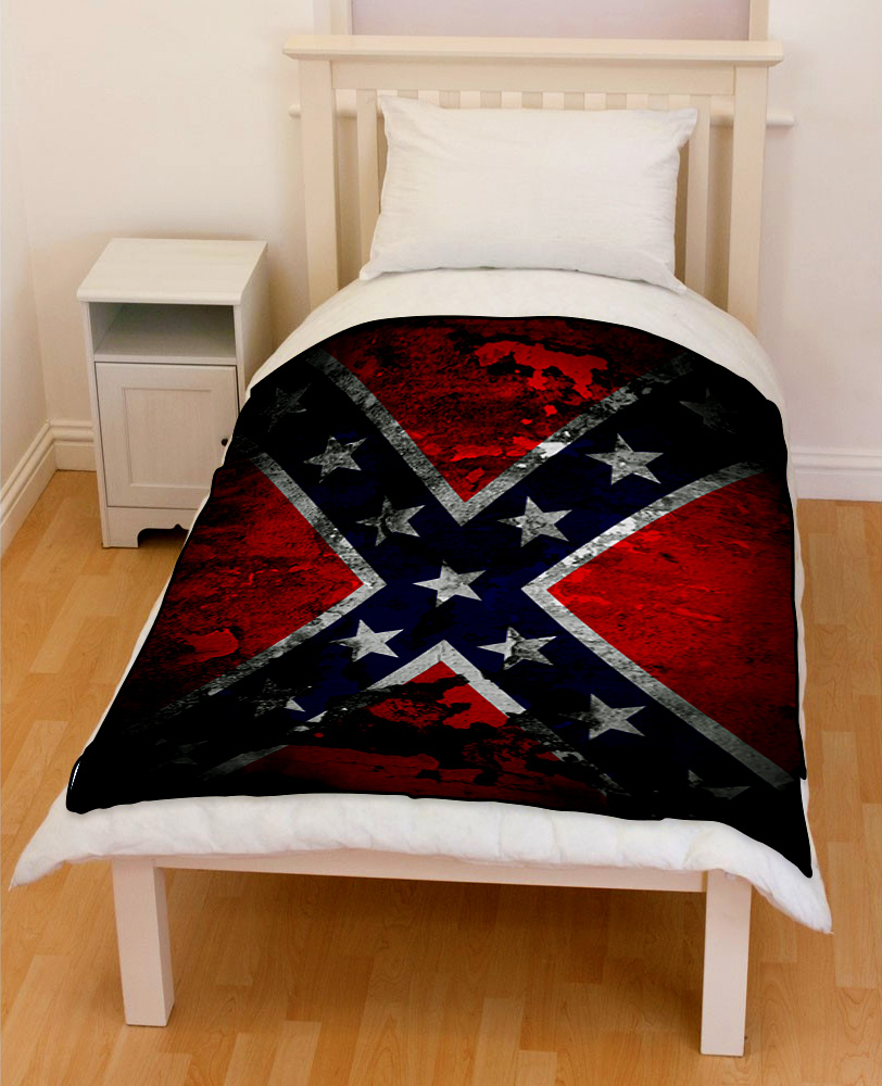 confederate flag bedding throw fleece blanket