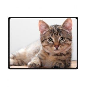 cute kitten bedding throw fleece blanket