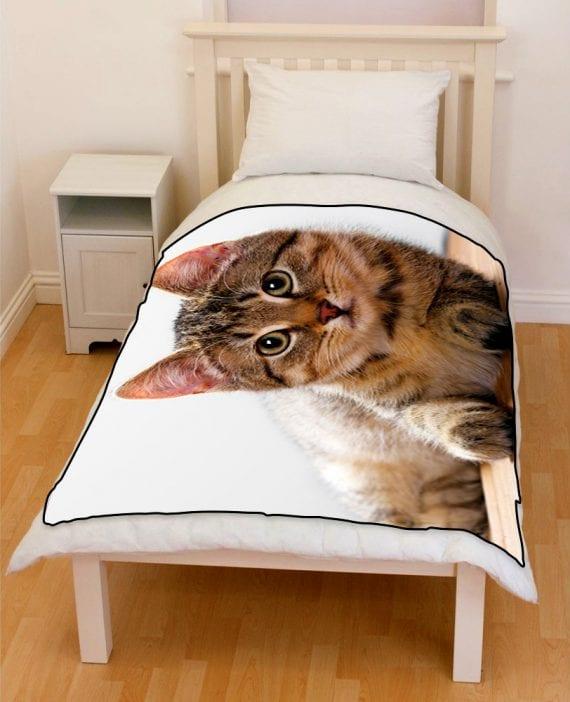cute kitten bedding throw fleece blanket