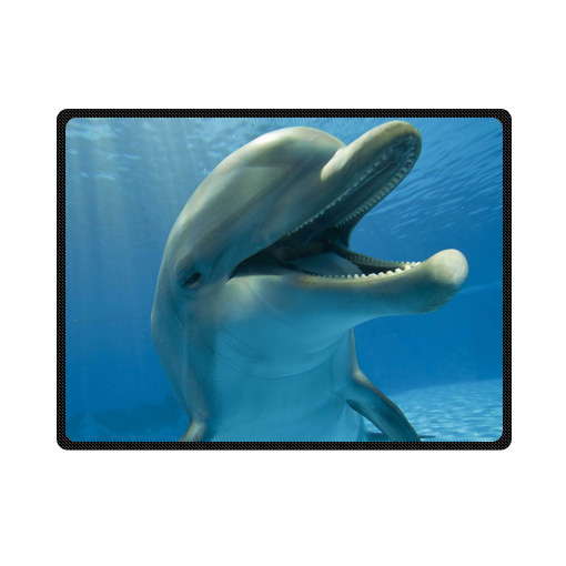 dolphin bedding throw fleece blanket