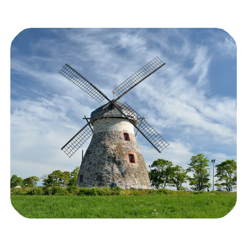 farm windmil blue sky mousepad