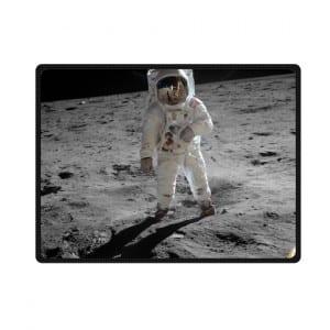 first man on moon bedding throw fleece blanket