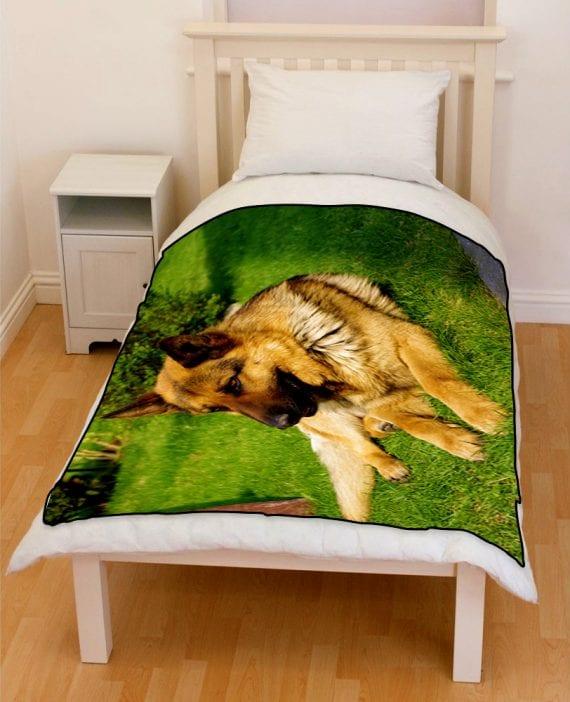 german shepherd dog bedding throw fleece blanket