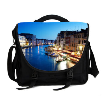 grand canal in venice italy sunset laptop bag
