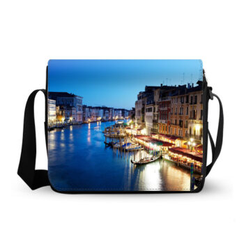 grand canal in venice italy sunset messenger bag