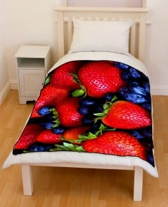 healthy berries bedding throw fleece blanket