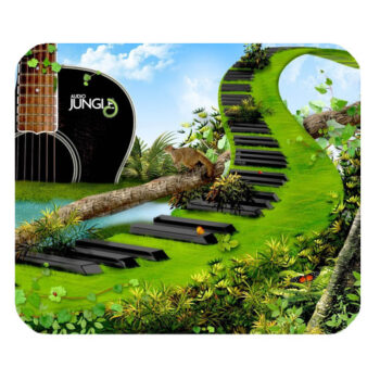 jungle guitar piano abstract mousepad