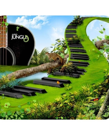 jungle guitar piano abstract mousepad