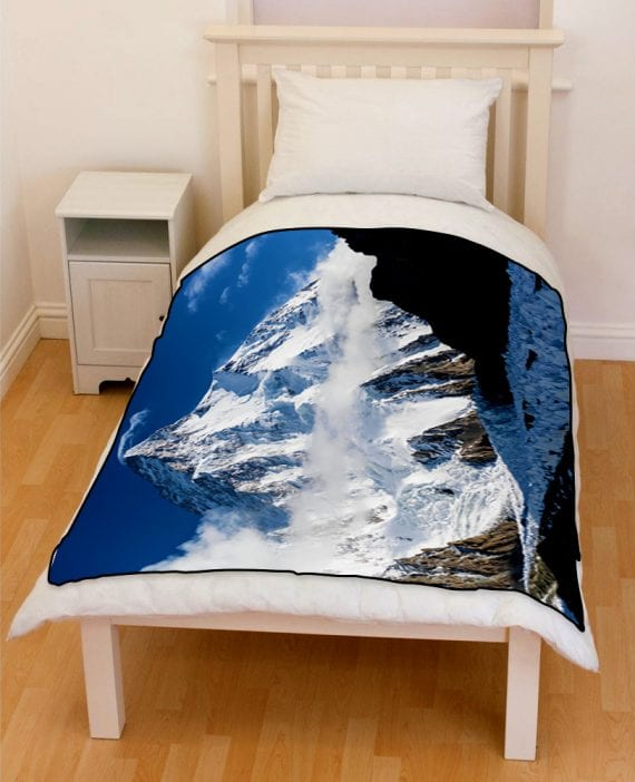 k2 mountain bedding throw fleece blanket