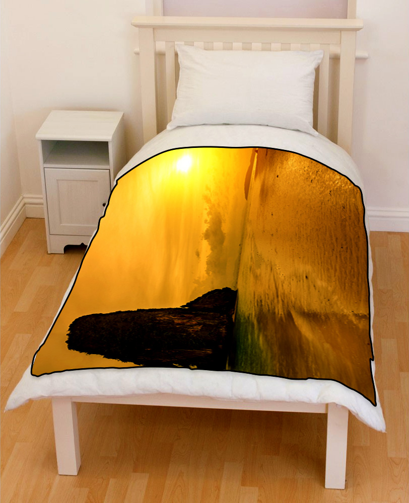 krabi thailand sunset beach bedding throw fleece blanket